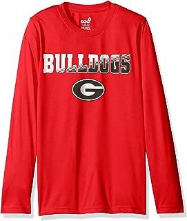 Genuine Stuff NCAA Georgia Performance Long Sleeve Tee, M(10-12), Red