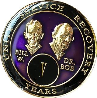 5 year AA Medallion Purple Tri-Plate Founders Bill & Bob Chip V