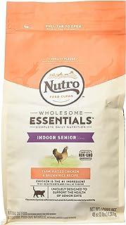 Nutro Wholesome Essentials Indoor Senior Dry Cat Food Farm-Raised Chicken & Brown Rice Recipe, 3 Lb. Bag