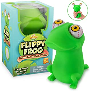 Sponsored Ad - Squishy Eye Popping Flippy Frog - Large Squeeze - Stress Relief Toy - Latex Free Peepers Fidget - Anxiety R...