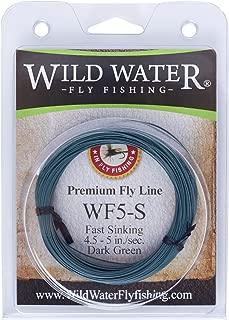 Wild Water Weight Forward 5-Weight Dark Green Fast Sinking Fly Fishing Line, 90 feet