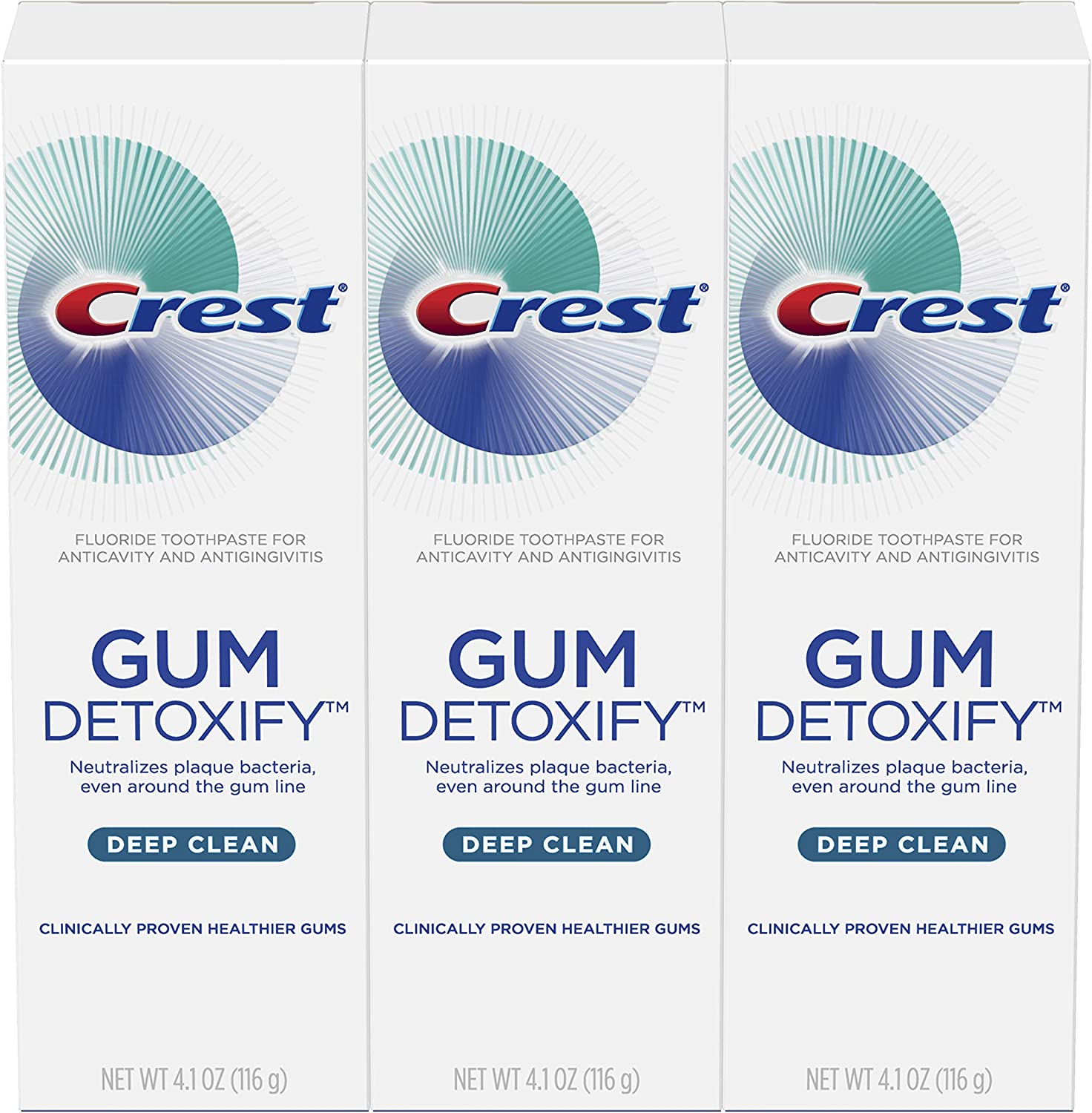 Crest Toothpaste Sale Gum Detoxify Deep Pack 5 ☆ very popular 3 of 4.1oz Clean