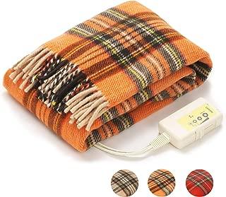 LIFEJOY 日本製 電気毛布 ひざ掛け 洗える あったかブランケット かわいい 大判 160cm×82cm オレンジ JBH161-D