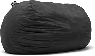 Big Joe Lenox Fuf Foam Filled Bean Bag, Extra Extra Large, Black -