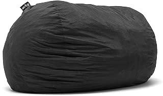 Big Joe Lenox Fuf Foam Filled Bean Bag, Extra Extra Large, Black - 1655