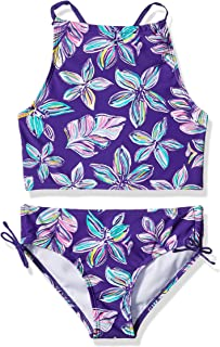 b668d3c893 Kanu Surf Girls' Daisy Beach Sport Halter Tankini 2-Piece Swimsuit