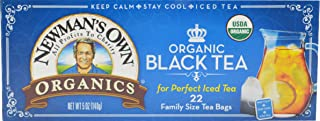 Newman's Own Organic Black Tea, 22-Count Family Size Bags, 5 oz, (Pack of 6). Packaging May Vary.