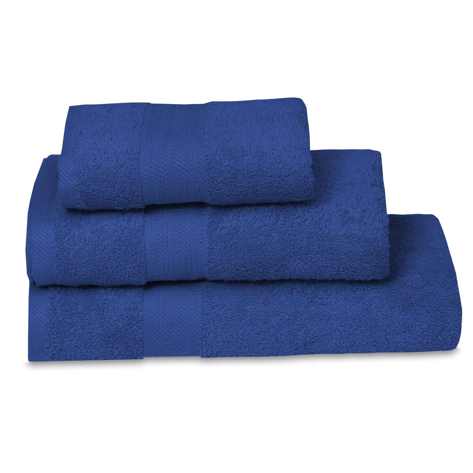 Nimsay Home - Toalla de rizo (100% algodón egipcio, 600 g/m²), algodón egípcio, azul, de mano: Amazon.es: Hogar