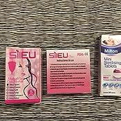 Copa Menstrual Sileu Cup Soft - Suave, hipoalergénica - Vejigas sensibles, calambres y cólicos menstruales - Talla L Morado + Esterilizador Plegable ...