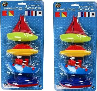 USTOYS Bundle Savers (2 Packs of 4) Plastic Sailing Boats