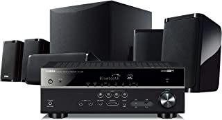 Yamaha YHT-5950UBL 4K Ultra HD 5.1-Channel Wired Home Theater System with Wi-Fi, Bluetooth and Musiccast, Works with Alexa