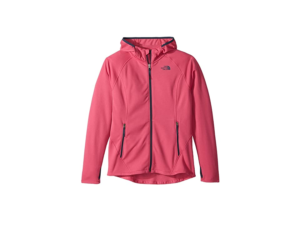 The North Face Kids Mid Cloud Fleece Hoodie (Little Kids/Big Kids) (Petticoat Pink/Blue Wing Teal) Girl