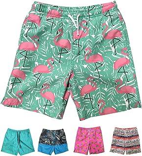 INGEAR Little Boys Quick Dry Beach Board Shorts Kids Swim Trunk Swimsuit Beach Shorts with Mesh Lining