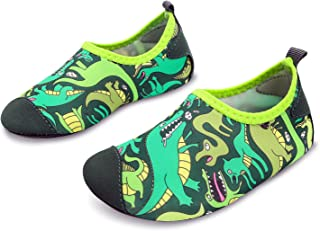 9e7b6b5a83af L-RUN Kids Swim Water Shoes Barefoot Aqua Socks Shoes for Beach Pool  Surfing Yoga