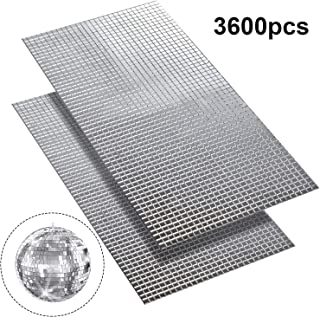 SATINIOR 3600pcs 5 x 5 mm Self-Adhesive Mini Square Glass, Decorative Craft DIY Accessory Mirrors Mosaic Tiles