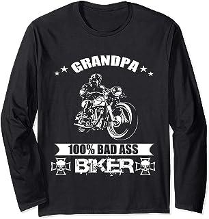Triana Market Place Grandpa Bad Ass Biker wear Long Sleeve T-Shirt