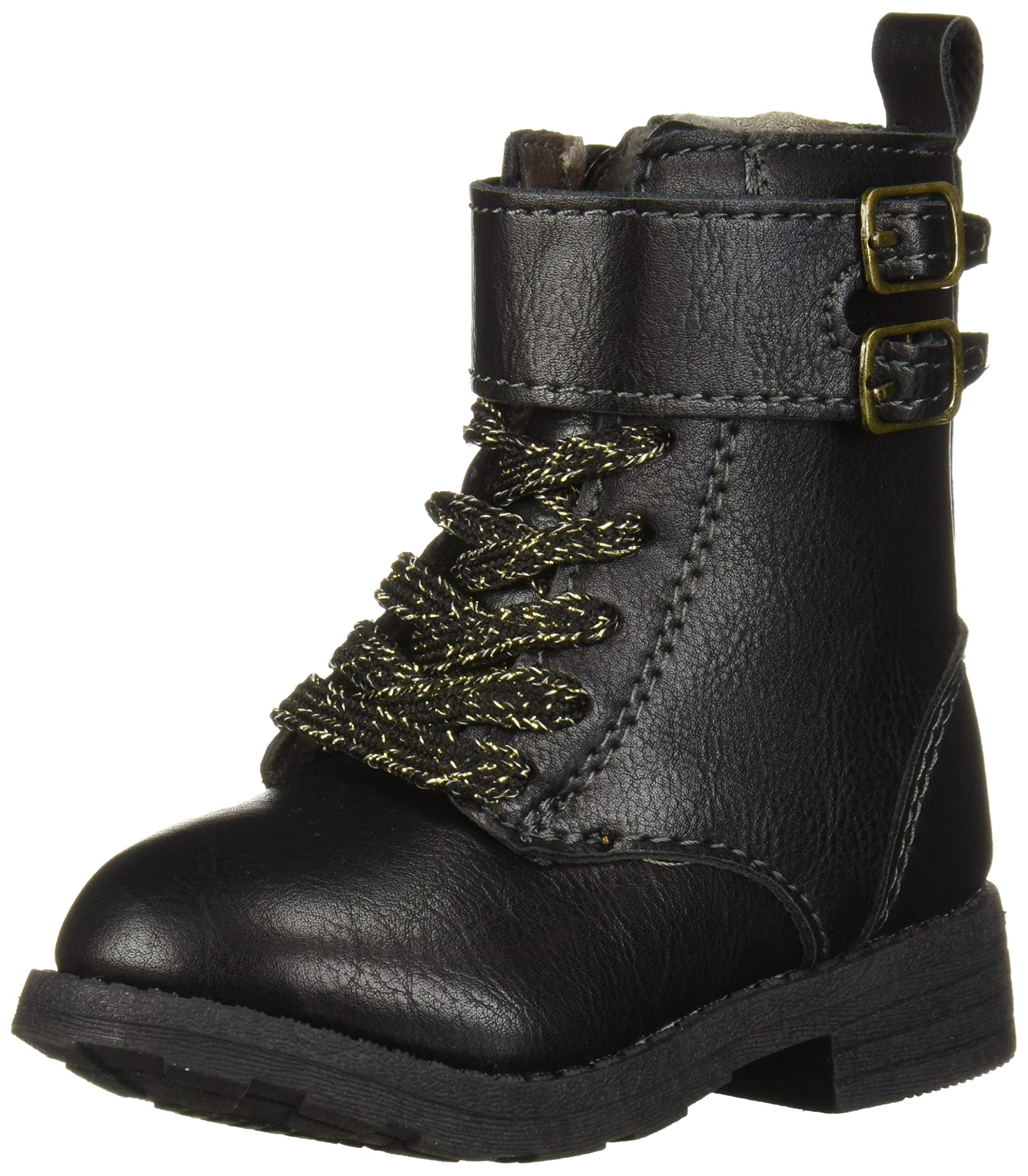 Forever Link Legend-15KA Baby Girls Combat Lace Up Boots