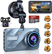 "$54 » Dual Dash Cam Car Camera - Contain 32GB SD Card,Full HD 1080P Dash Camera for Cars,4""IPS Screen Dual Wide Angle Lens Car Dash Camera,G-Sensor,Cycle Recording,Parking Monitoring.(2020 Upgraded Version)"