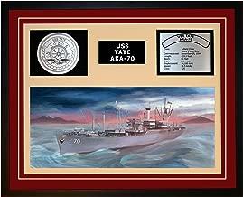 Navy Emporium USS Tate AKA 70 Framed Navy Ship Display Burgundy