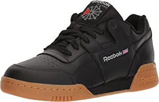 Reebok Men's Workout Plus Cross Trainer, Black/Carbon/Classic red, 9.5 M US