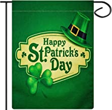 ANPHSIN St. Patrick's Day Garden Flag 12.6 × 18.5 inches Double Sided Decorative Burlap Flag