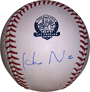 Los Angeles Dodgers Hideo Nomo Autographed Hand Signed LA Dodgers 60th Anniversary Commemorative ROMLB Baseball with Proof Photo of Signing and COA, Kintetsu Buffaloes
