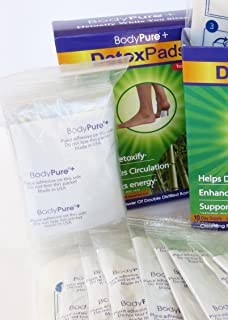 BodyPure+ Herbal Foot Patch to Remove Toxins   30-Day Supply of Natural Foot Pads + Free Test