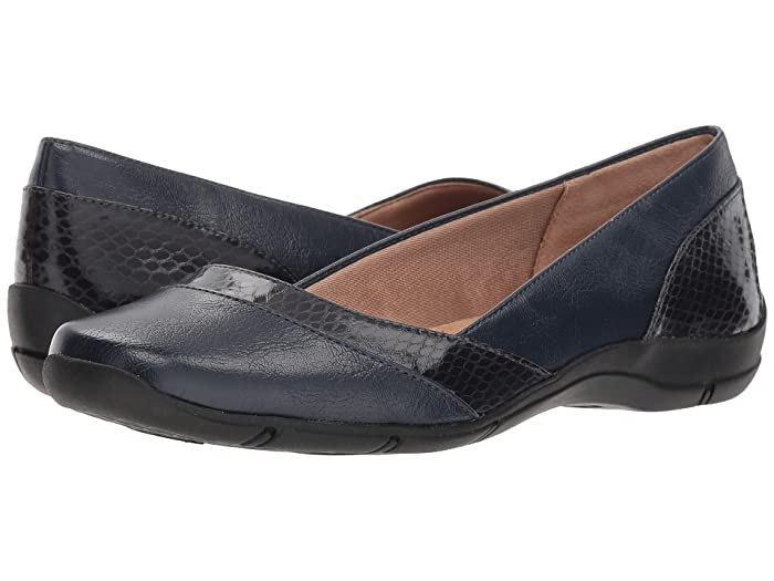 LifeStride  Deja Vu (Luxe Navy) Womens Flat Shoes