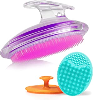 Exfoliating Brush For Razor Bumps and Ingrown Hair Treatment, Silicone Face Scrubbers, Face and Body Exfoliator Set - Perf...