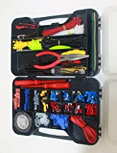 Cambridge 399 Piece Electrical Repair Kit of Assorted Terminals Cable Ties Tools Tape with Convenient Storage Case
