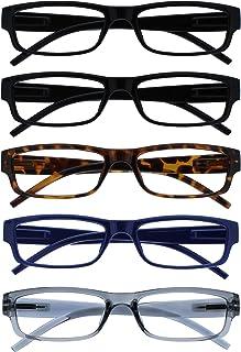 The Reading Glasses Lunettes de Lecture Valeur Set de 5 Léger Hommes Femmes Noir Brun Foncé Bleu Gris RRRRR32-11237 +2,50