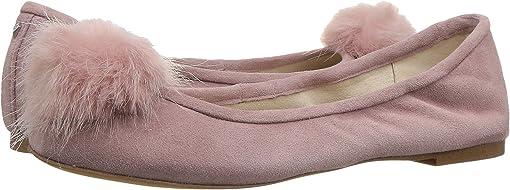 Pink Mauve Suede Leather