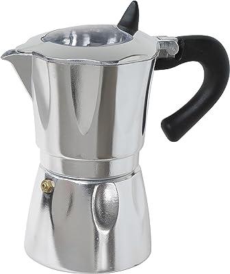 Cuisinox Vista - Cafetera espresso de aluminio para 9 tazas, color plateado, negro y transparente