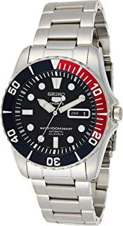 Blue Dial Stainless Steel Automatic Mens Watch SNZF15