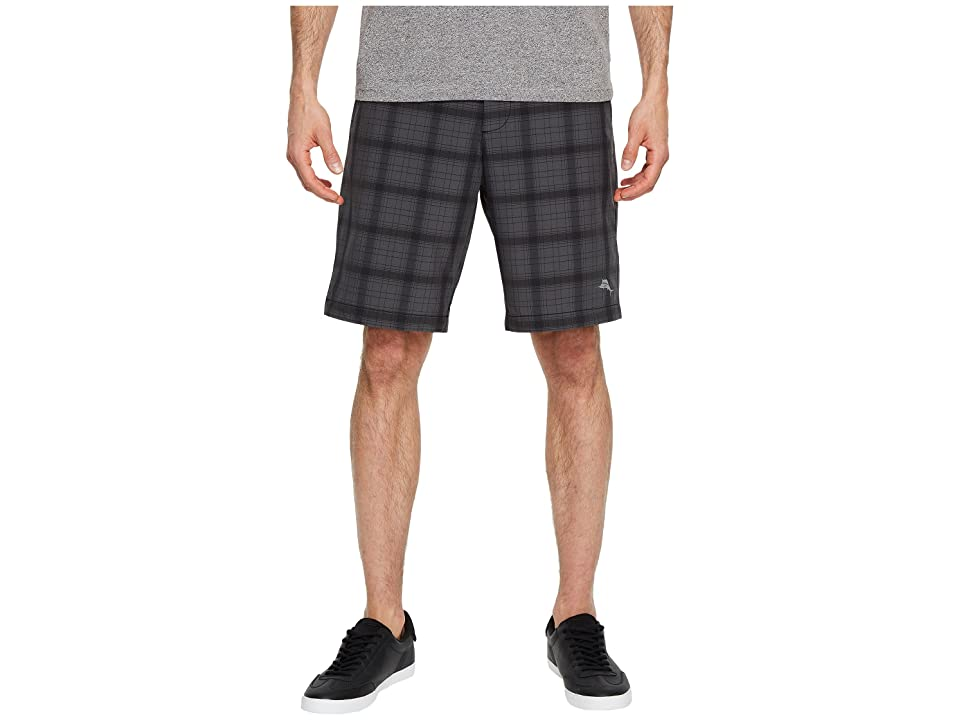 Tommy Bahama Cayman Shadow Surf Hybrid Shorts (Black) Men