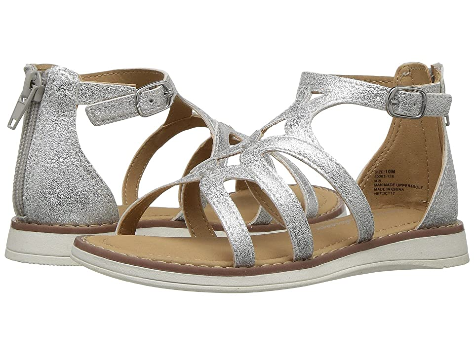 Hanna Andersson Mia (Toddler/Little Kid/Big Kid) (Silver) Girls Shoes