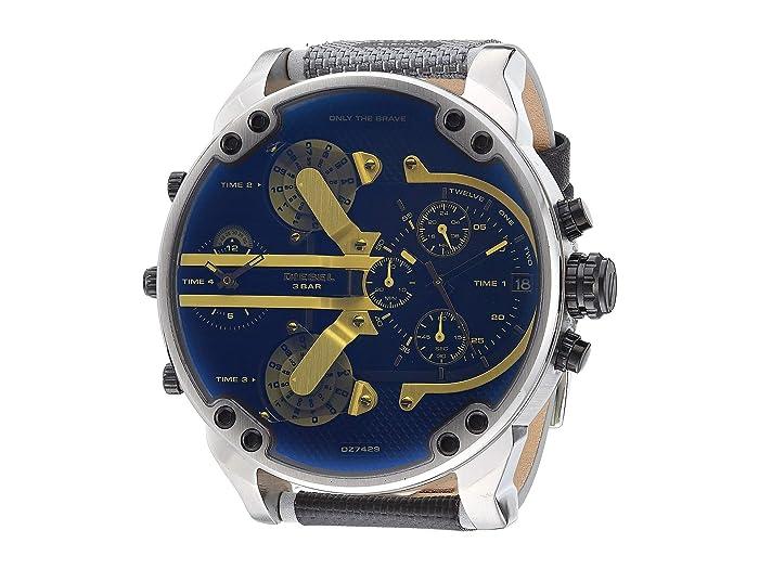 Diesel  Mr Daddy 2.0 Two-Hand Nylon Watch DZ7429 (Black) Watches