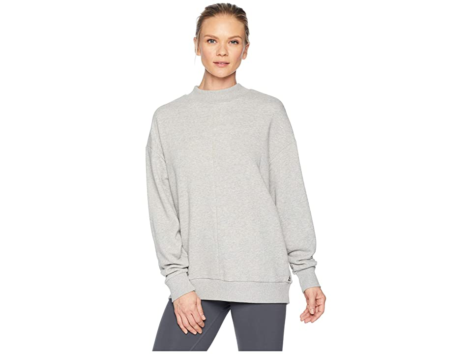 Reebok Elevated Elements Crew (Medium Grey Heather) Women