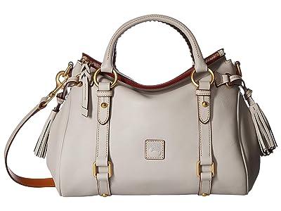 Dooney & Bourke Florentine Small Satchel (Ecru/Ecru Trim) Handbags