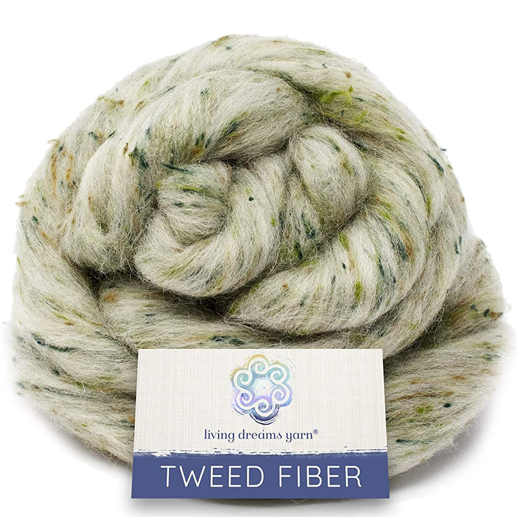 Tweed Effect Fiber for Spinning, Felting, Blending and Dyeing. Super Soft Wool & Viscose Blend. Combed Top Roving. Tolkien