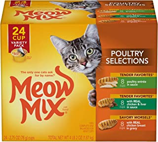 Meow Mix پیشنهادات و پیشنهادات مواد غذایی مرطوب گربه ، 2.75 لیوان اونس