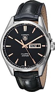 Men's WAR201C.FC6266 Carrera Analog Display Analog Black Watch