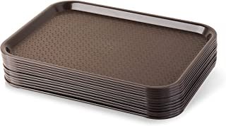 New Star Foodservice 24395 Brown Plastic Fast Food Tray, 10 by 14-Inch, Set of 12