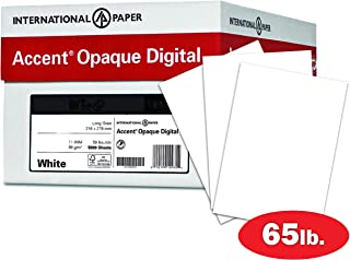 Accent Opaque Thick Cardstock Paper, White Paper, 65lb Cover, 176 gsm, Letter Size, 8.5 x 11 Paper, 97 Bright, 10 Ream Case / 2,500 Sheets, Super Smooth, Heavy Card Stock (121939C)