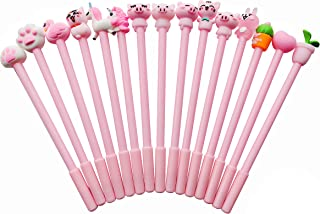 GADGET.COOL Pink Rollerball Pens 15 Pack Bulk, 0.5mm Black Ink, Cute Creative Stationary Wholesale