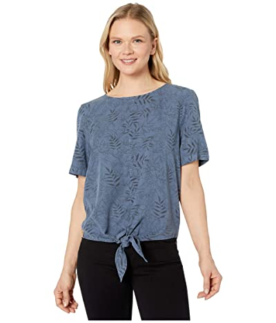 tentree Roche Shirt (Spruce Blue/Floral All Over Print) Women