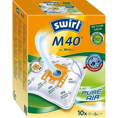 M40 geeignet für Miele S 8330 4 Staubsaugerbeutel Swirl M 40