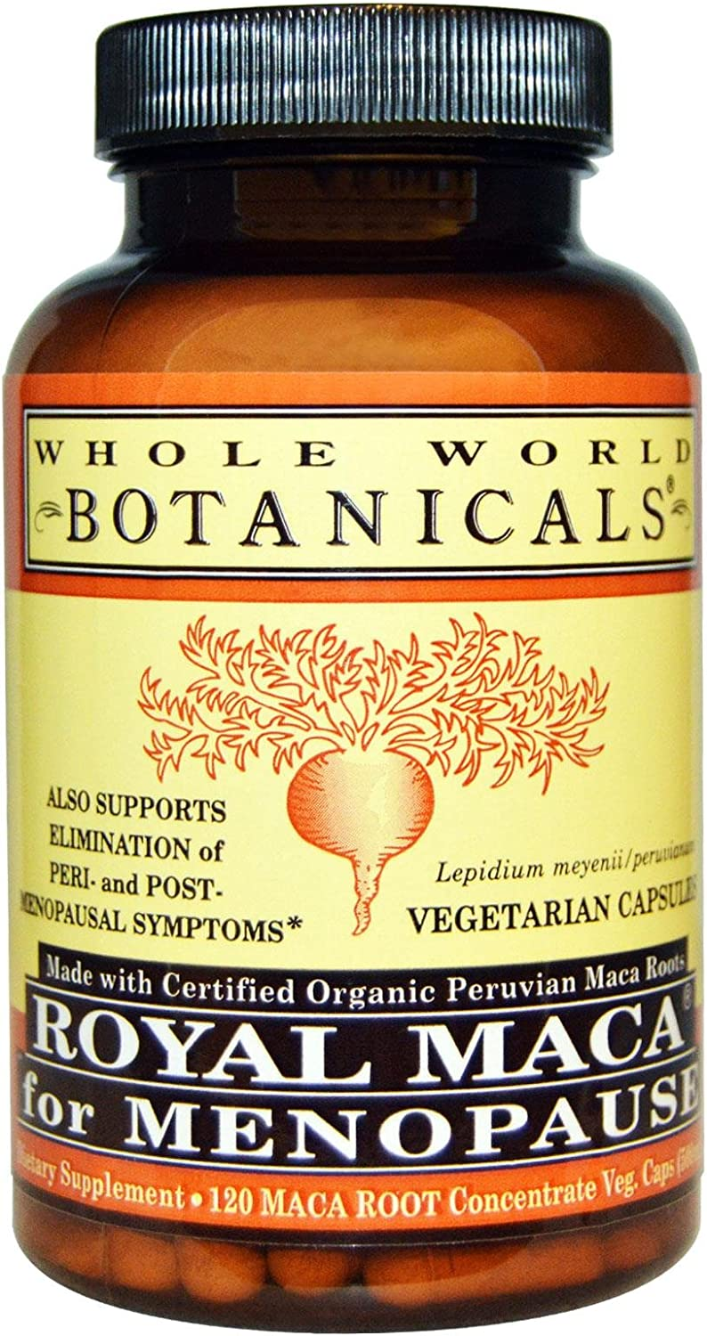 overseas WHOLE WORLD BOTANICALS Royal Maca 120 CT For Max 60% OFF Menopause
