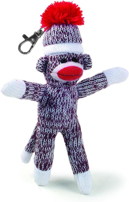Pennington Bear Company The Original Sock Monkey Key Chain, HandKnit, Plush Material, 4  inch