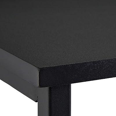 Relaxdays Petite Table de Travail HxlxP 75x60x40 cm Meuble Compact pour Ordinateur, pour lap Top MDF et métal, Noir, Fer, PVC, 1 élément